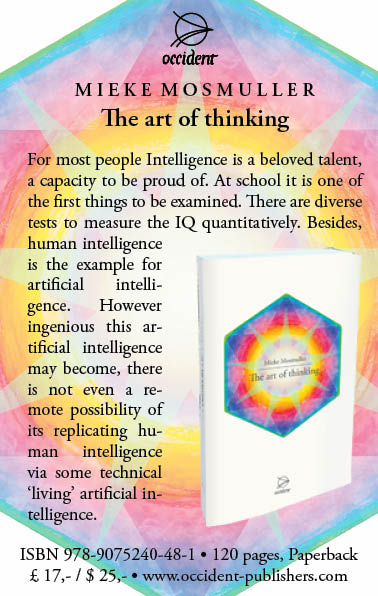 The art of thinking - Mieke Mosmuller - Occident