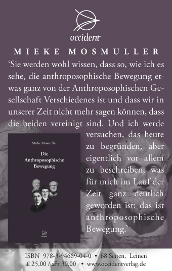 Die Anthroposophische Bewegung - Mieke Mosmuller - Occident